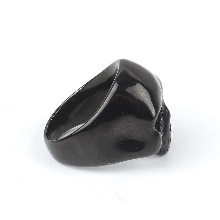 Black Skull Ring Men