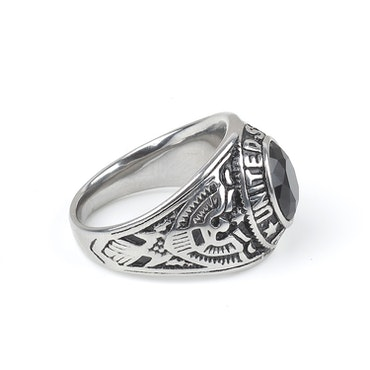 Stone Ring States Silver