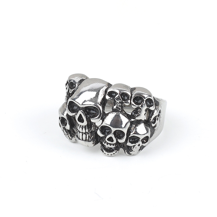Skull Ring Cole Silver