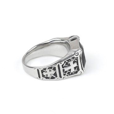 Cross Ring Ethan Silver