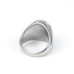 Men Cross Ring Silver