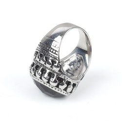 Big Bang Stone Ring Silver