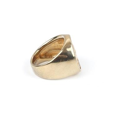 Cut Stone Ring Gold