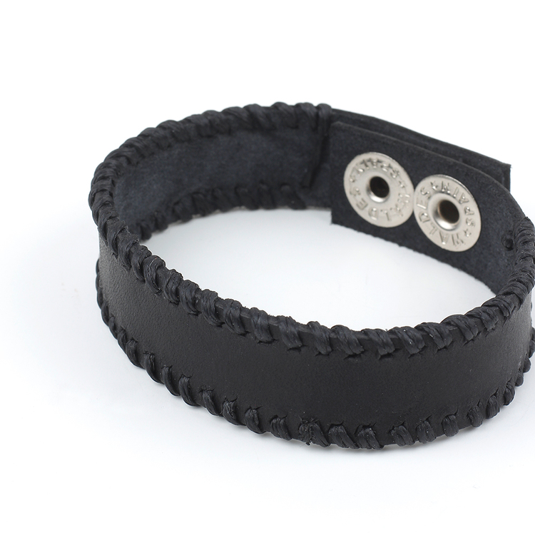 Black Leather Bracelet Men