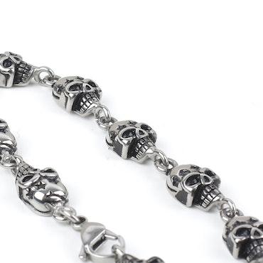 Multi Skull Men Bracelet Steel