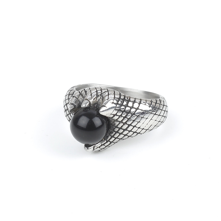 Black Stone Ring Silver