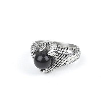 Black Stone Ring Silver