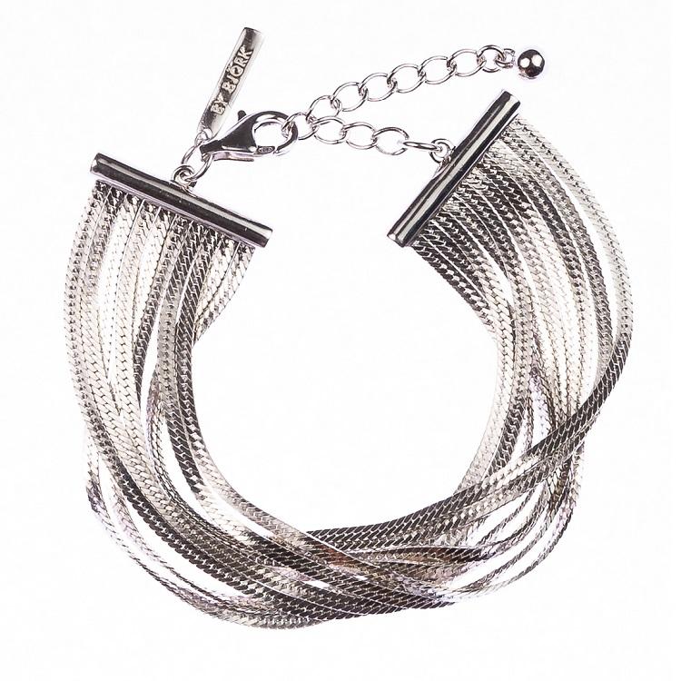 By Björk armband i silver med tio länkar designad av Sofia Björk
