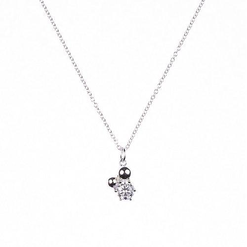 Halsband med sten och silverpärlor