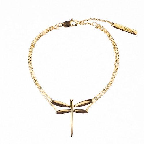 Armband med slända i guldförgyllning