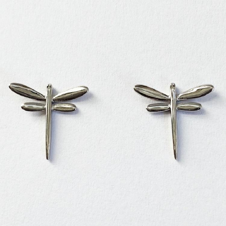 Örhängen med sländor i silver design By Björk