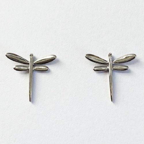Örhängen med sländor i silver