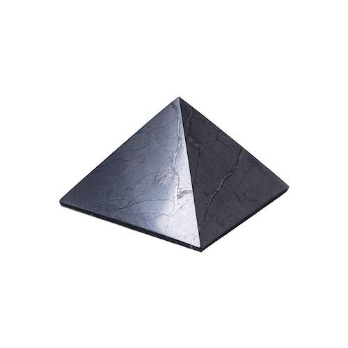 Shungit pyramid Stor polerad, 7 cm