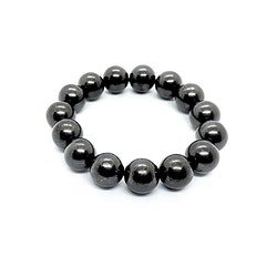 Shungit armband av 15 pärlor á 12 mm