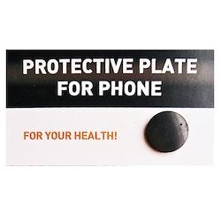 Strålningsskydd för mobil, rund fästbar platta i shungit