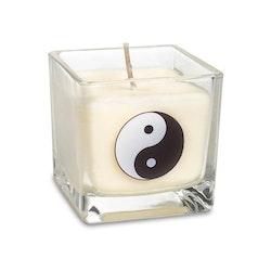 Doftljus av ekologisk rapsvax Vit, Yin Yang