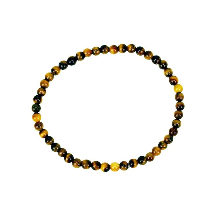 Tigeröga armband 4 mm pärlor
