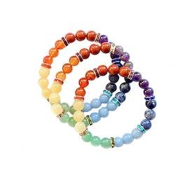 Elastiskt kristallarmband för 7 chakran