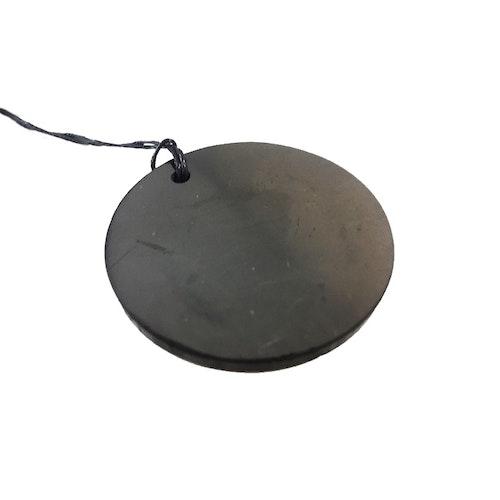 Shungit amulett rund 5 cm