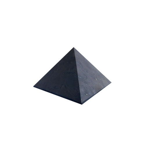 Shungit pyramid L opolerad 7 cm