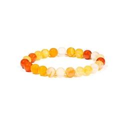 Karneol armband 5 mm pärlor