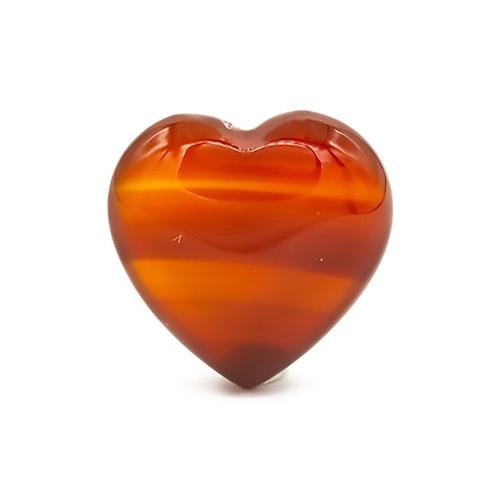 Karneol hjärta 3 cm