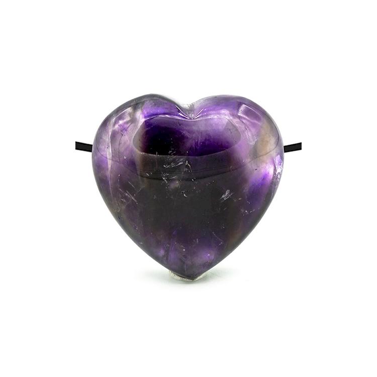 Ametist hängsmycke hjärta 2 cm
