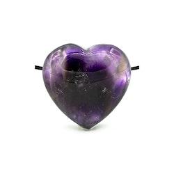 Ametist hjärta hängsmycke 2 cm