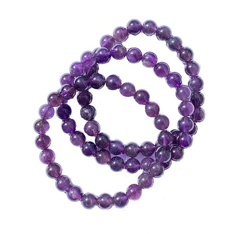 Ametist armband 8 mm pärlor
