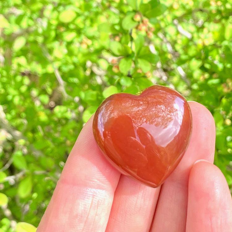 Karneol hjärta, 3 cm