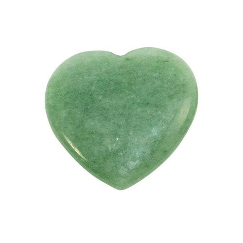 Grön Aventurin hjärta 3 cm