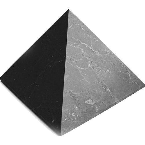 Shungit pyramid Extra extra stor opolerad, 13 cm