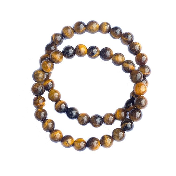 Tigeröga armband 8 mm pärlor