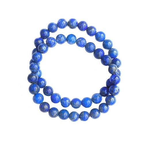 Lapis Lazuli elastiskt armband av 8 mm pärlor