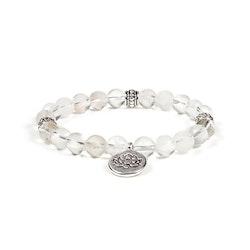 Bergkristall armband med Lotusblomma