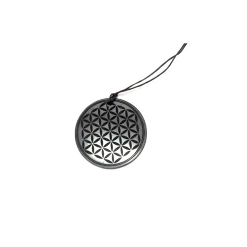Shungit amulett Flower of Life 3 cm
