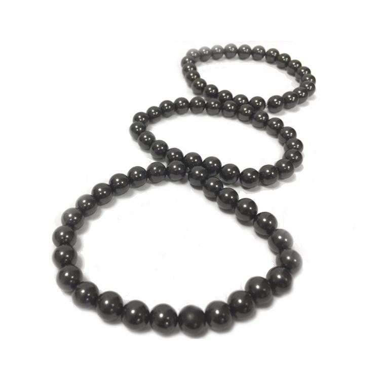 Shungit armband av 8 mm pärlor