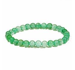 Grön Aventurin armband 6 mm pärlor
