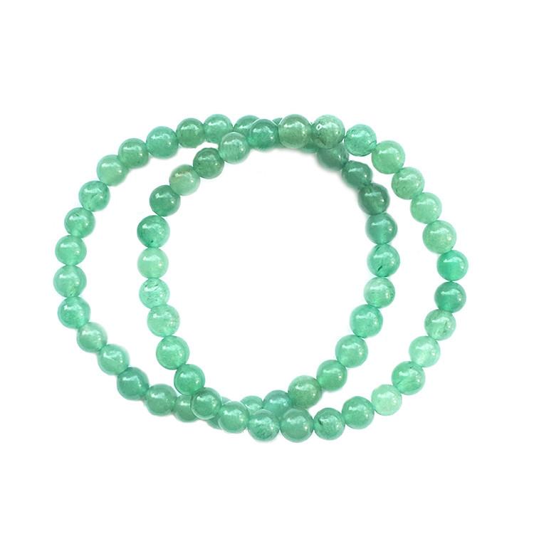 Armband med Grön Aventurin 6 mm pärlor