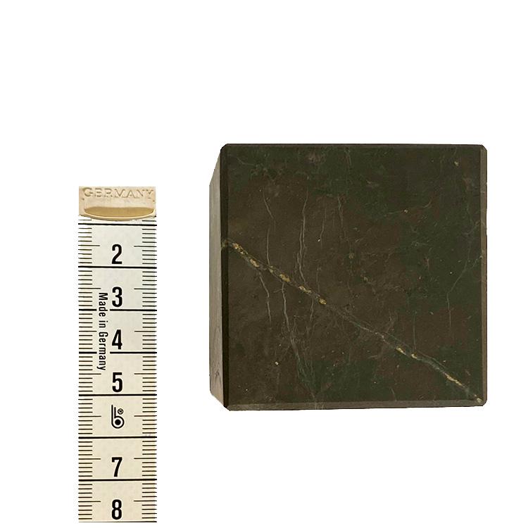 Shungit Kub Mellan opolerad 5 cm
