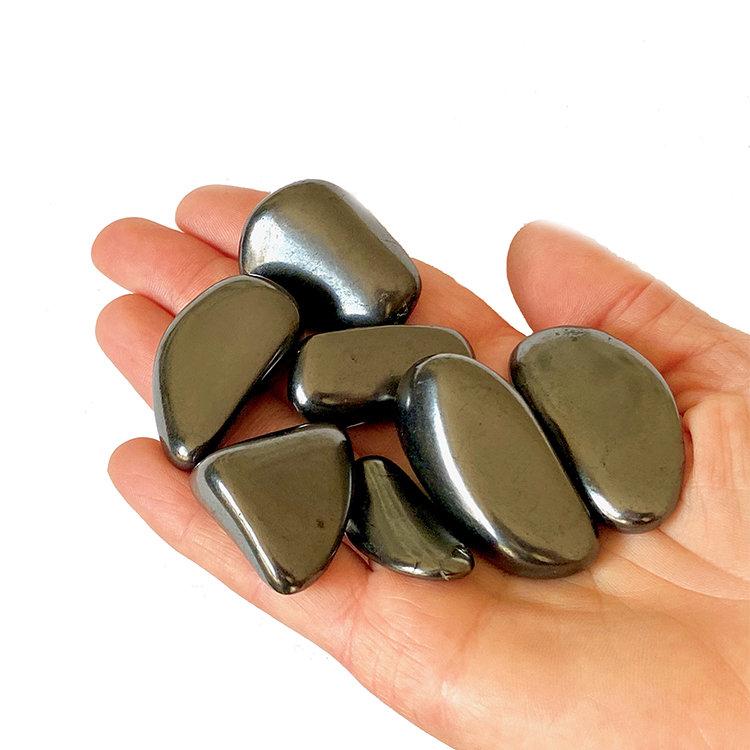 Trumlade shungit stenar 2-4 cm, 100g (stenterapi)