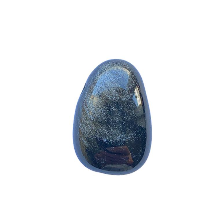 Silver Obsidian AA hängsmycke 3 cm