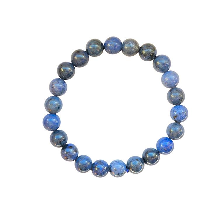 Dumortierit armband 8 mm pärlor