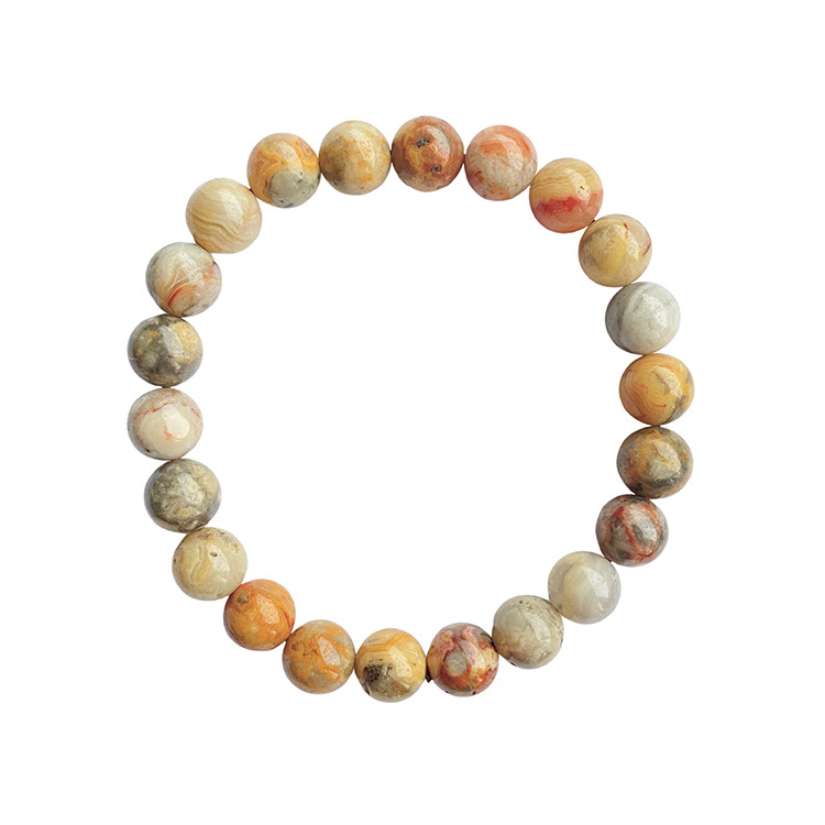 Crazy Lace Agat armband 8 mm pärlor