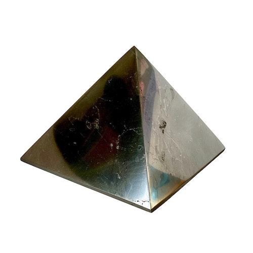 Shungit pyramid XXL polerad, 13 cm
