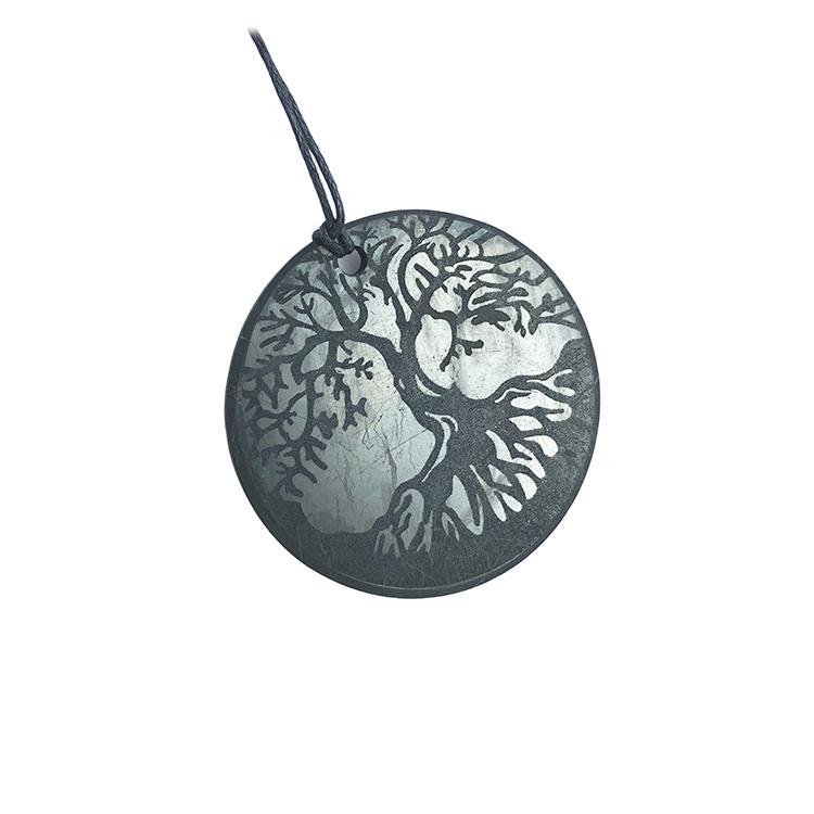 Shungit amulett Tree of Life 5 cm Ny design