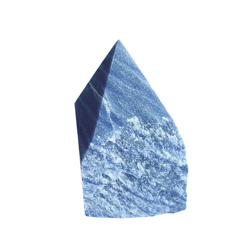 Blå Kvarts AA halvrå spets L