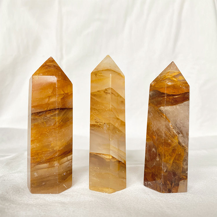 Golden Healer Guldkvarts spets 8 cm