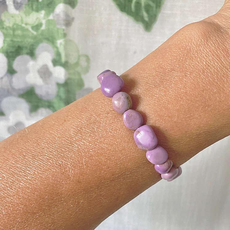 Lepidolit armband 8-10 mm pärlor