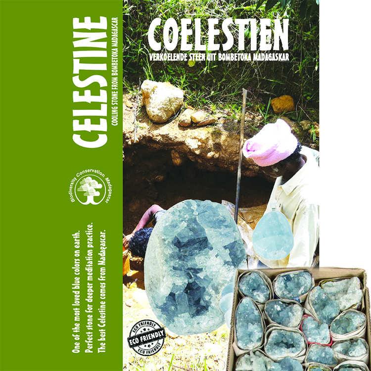 Celestit kluster 1000-1500 g